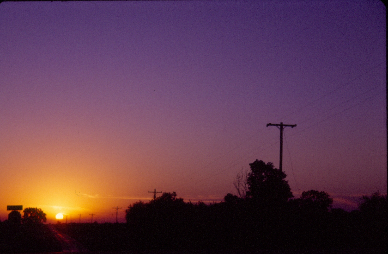 orange and purple sunset