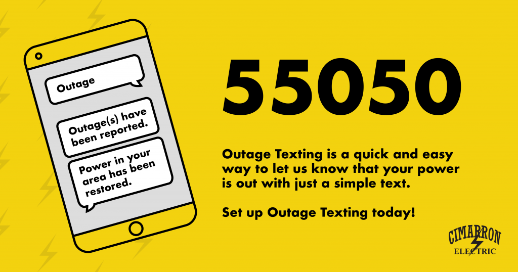 Text 55050 To Report Your Outage