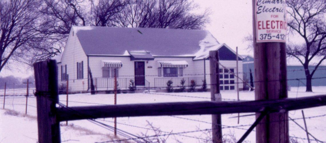 house on a farm on a snowy day
